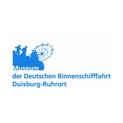 Logo Binnenschifffahrtsmuseum Duisburg für den Slider