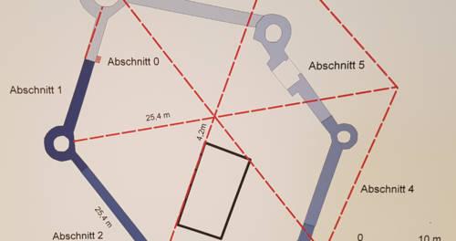 Architektonischer Grundriss von Museum Burg Linn