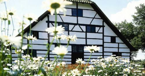 Wohnhaus in der Hofanlage Rasseln im Freilichtmuseum in Grefrath