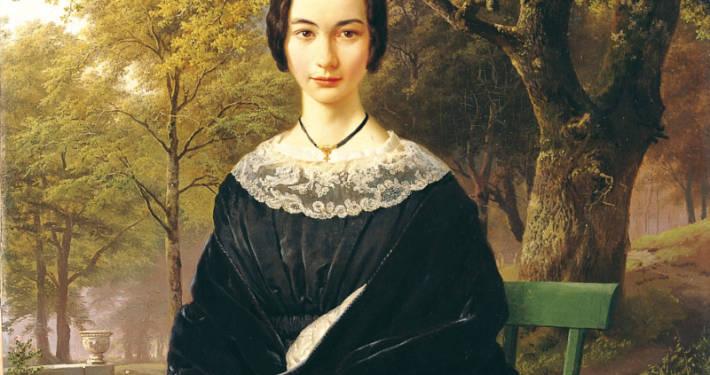 Gemälde einer Frau