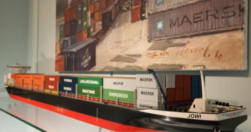 Containerschiff Miniatur
